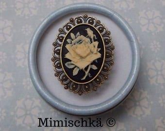 ring cameo gothic rose