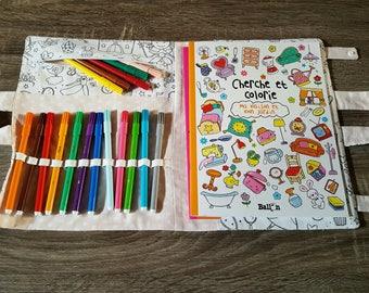 Pocket fabric princesses coloring designs