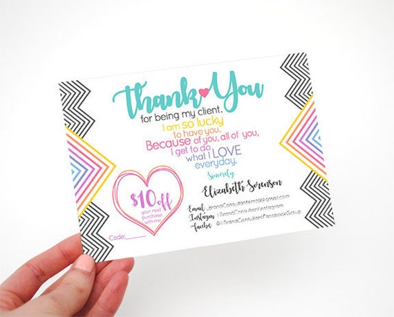 Client Appreciation Postcard Design Heart customer