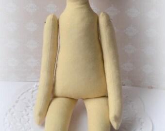 """Rag  doll 13 """" Body doll handmade Doll Rag doll Doll body Clothes doll 13 inch"""