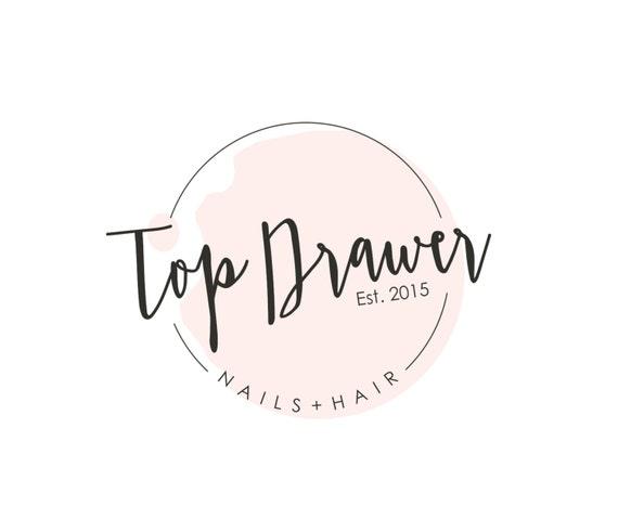 Pre made nail salon logo spa logo design nail polish logo altavistaventures Images