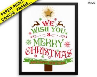 Merry Christmas Wall Art Framed Merry Christmas Canvas Print Merry Christmas Framed Wall Art Merry Christmas Poster Merry Christmas tree