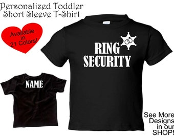 Toddler Ring Security Tshirt, Ring Bearer Tshirt, Ring Security, Ring Holder, Wedding Party Gift