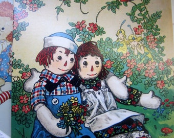 Retro Set of Raggedy Ann and Andy Blank Cards