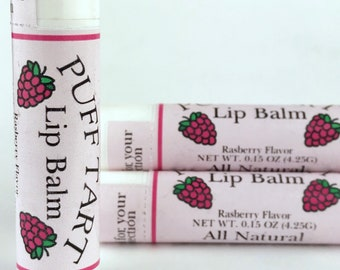 Raspberry Flavored Lip Balm