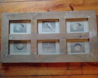 GRANDES múltiples marco de fotos, decoración vintage, rústico, madera, hogar, casa de playa, casa chic