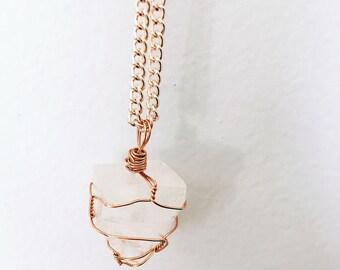 Apophyllite Point Wire Necklace
