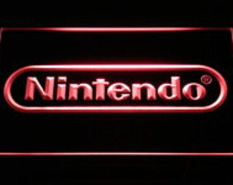Neon Sign LED Nintendo Game Room Decor Man Cave Video Games