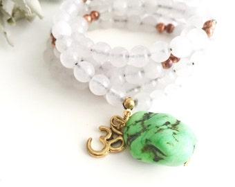 Healing Mala Beads Necklace, Meditation Bead Necklace, Buddhist Necklace, Bohemian Necklace, Prayer beads, Yoga jewelry, Mala Necklace, MNGN