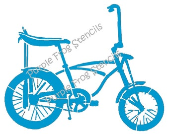 Bike Retro  Stencil  Different Sizes Available, Banana Seat, 60'S bike, Bicycle