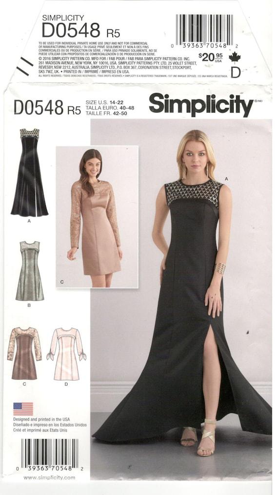Simplicity Princess Seam Prom Dress