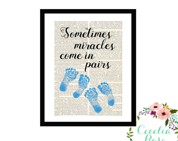 Sometimes Miracles Come In Pairs - Custom Footprint Colors -