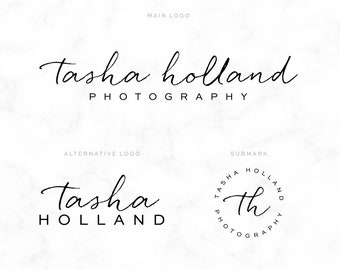 Premade Logo -  Cursive Logo  -  Boutique Logo - Small Business Logo - Photography Logo - Calligraphy - Script - Watermark - Logo Design