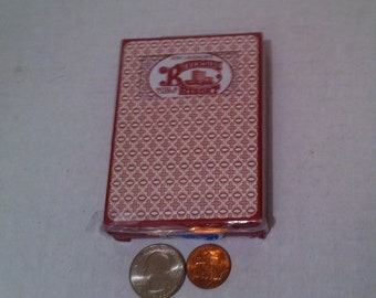Vintage Poker Playing Cards, Riverside Casino, Red, 5 Card Stud, 21, Poker, Playing Cards, Made in USA,  Gambling, Cards