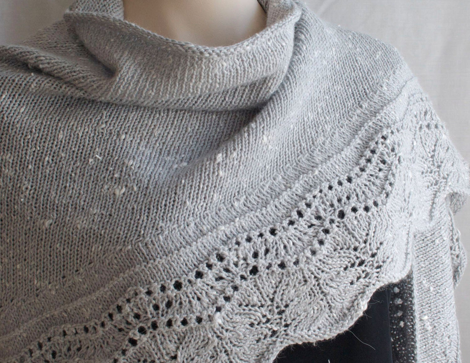 Attractive Shawl Pattern Knit Elaboration - Blanket Knitting Pattern ...