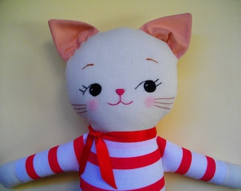 CAT SOFTIE PLUSH Toy - Adorable soft toy childrens toy cat plushie stuffed Cat Toy