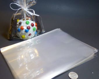 Clear Polypropylene 'Cellophane' Favor Treat Bags 7 x 10""