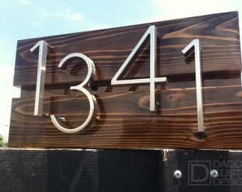 Mid Century Modern Custom Address Sign
