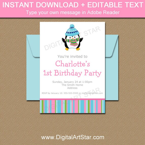 winter party invitation templates