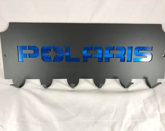 UTV Side x Side Trailer Wall Mount Hooks Polaris Arctic Cat Can-Am - Great for hanging straps, coats, etc. Strap Rack. Trailer Accessories