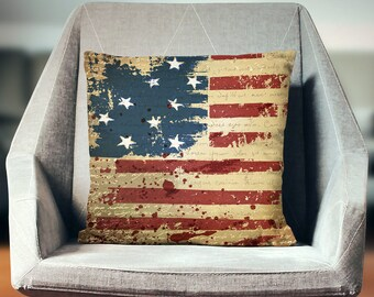 American Flag Pillow | US Flag Pillow | Patriotic Pillows | USA Pillow | USA Throw Pillow | Americana Decor | Usa Pillow Case