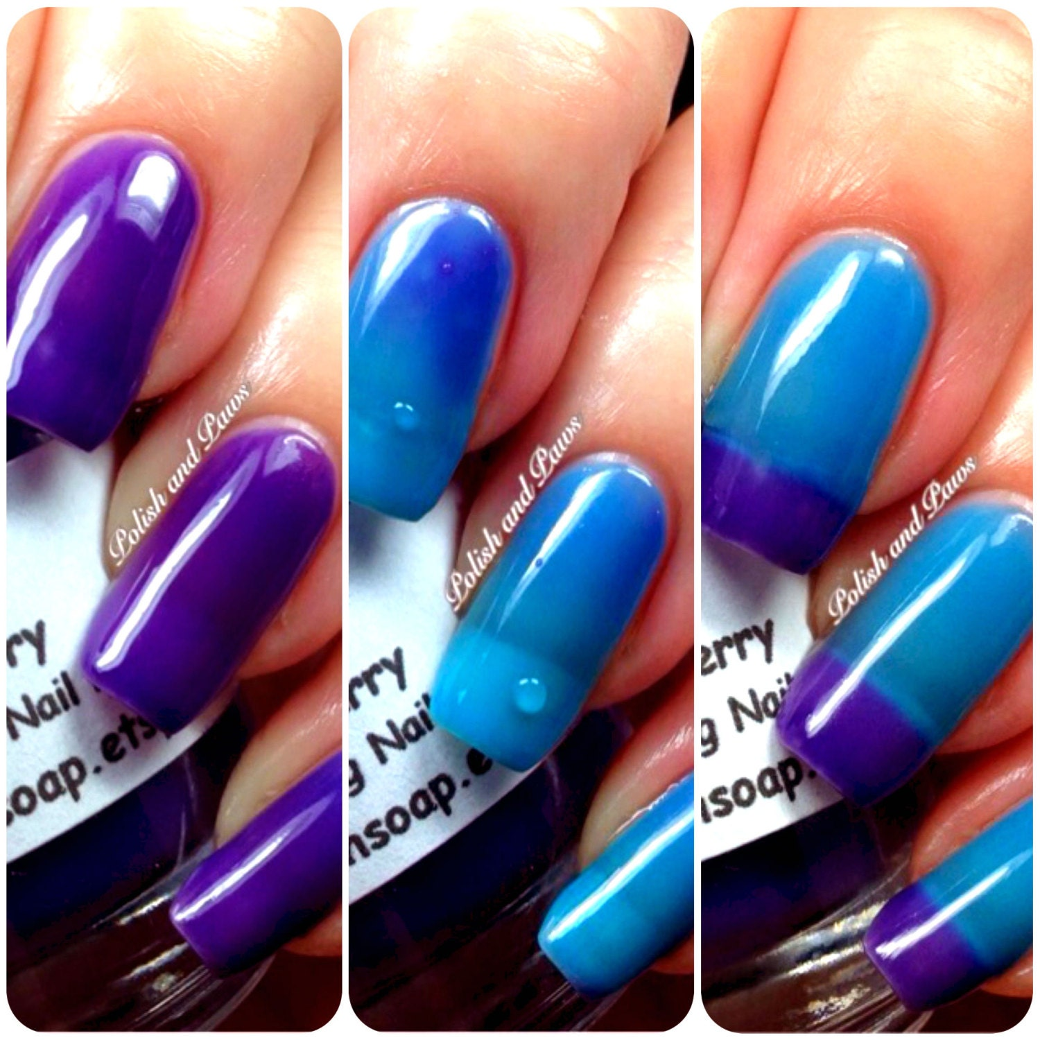 Free U.S. Shipping Color Changing Thermal Nail Polish Ombre
