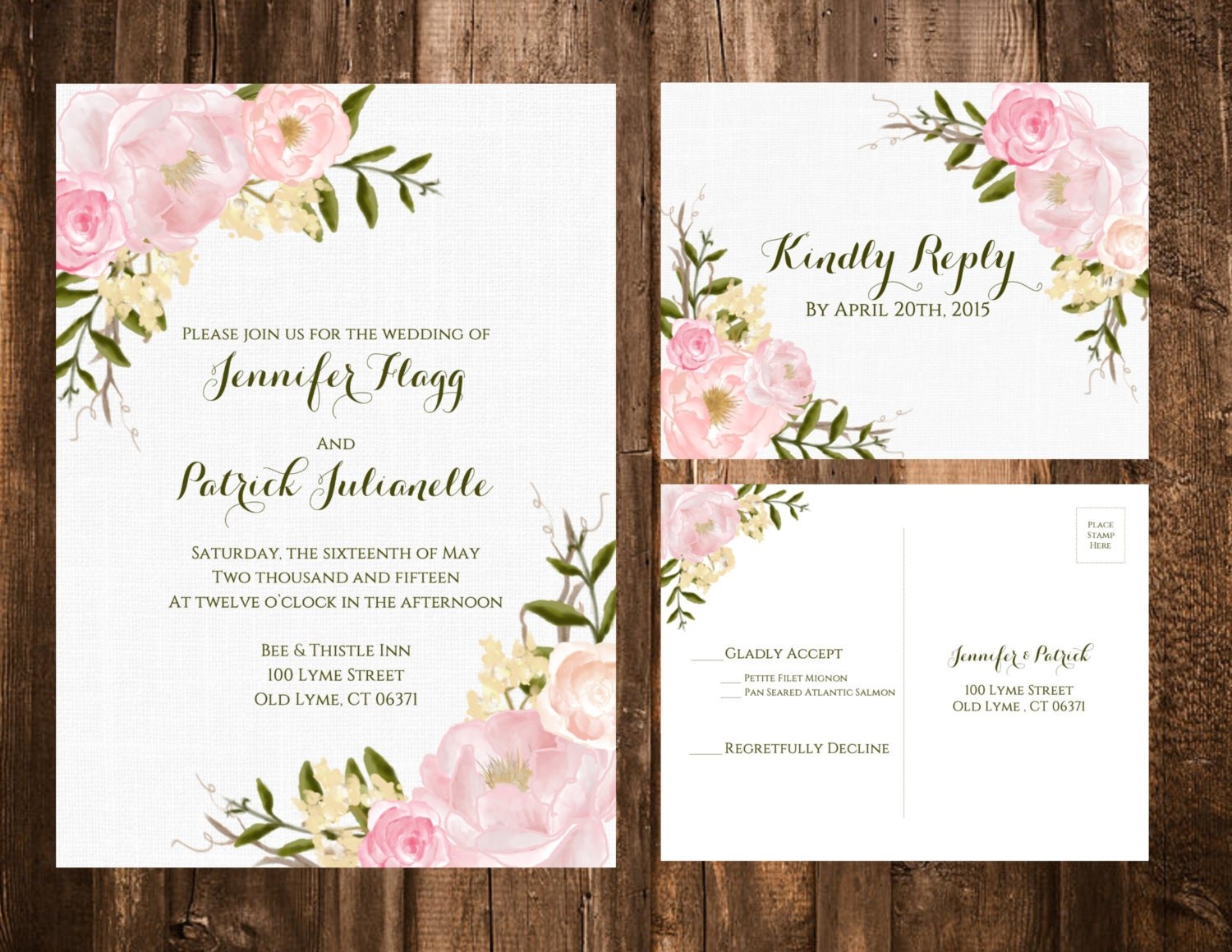 Garden Wedding Invitations: Spring Garden Floral Wedding Invitations Blush Printable OR