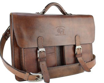 "15"" Leather Messenger Leather Bag  Leather Briefcase Leather Laptop Satchel for Macbook Pro 276"