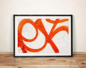 Orange Graffiti Series Abstract Original Photography Artwork Print Poster