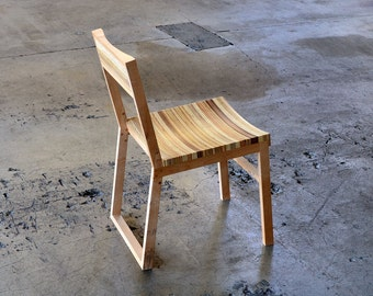 Chair 137 - reclaimed maple and reclaimed plywood