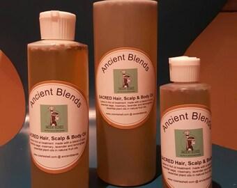 Ancient Blends 'Sacred' Hair and Scalp Oil...8ozs (medium)