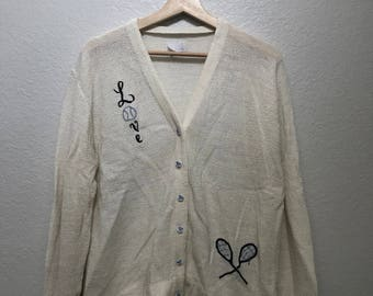 A tennis lovers dream vintage 1960s/70s cardigan!