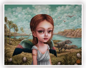 Children of the Nephilim - Sariel - limited edition signed and numbered 11x14 pop surrealism Fine Art Print by Mab Graves