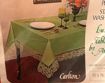 Vintage Orange No Iron Oblong Tablecloth by Amrose