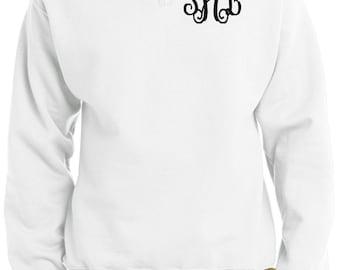 Monogram Pullover - Personalized  Quarterzip - Monogram Sweatshirt - Custom Pullover - Sweater Quarterzip Pullover - Quarter Zip Pullover