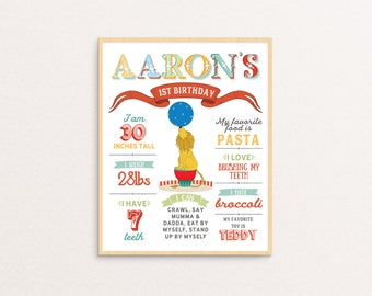 Vintage Circus / Carnival Birthday Poster