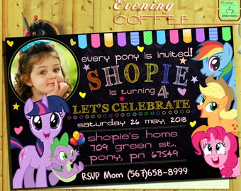 My Little Pony Invitation.My Little Pony Birthday Invitation.My Little PonyParty.My Little Pony Printable.My Little Pony With Photo-G1