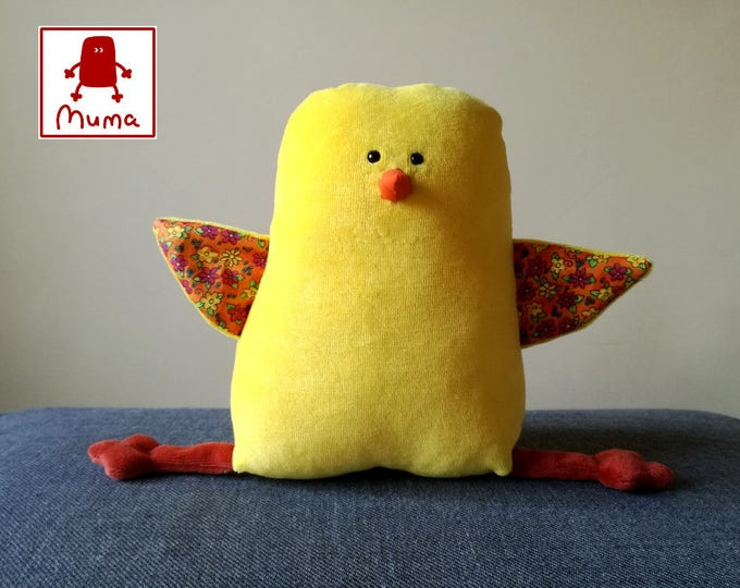 Muma Chicken Plushie, Little Easter Chickling Stuffie Toy, Funny Pocket Plush