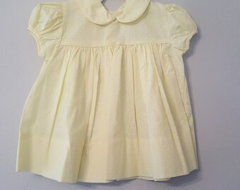 Vintage girls Yellow Polka Dot Dress by C.I. Castro- Size 18 Months- New, never worn