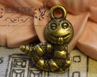 Set of 10 QDW200 pendant, Bronze, snake