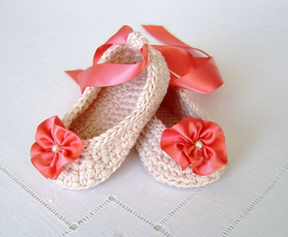 Crochet Pattern Baby Ballerina Slippers Baby Wedding Shoes Bridal ...