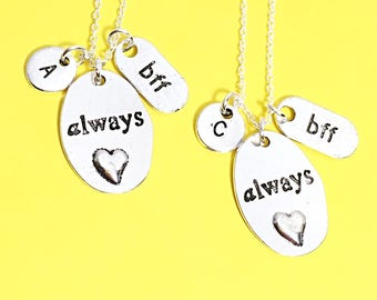 Always BFF Necklace for 2, Best Friends Necklaces, Set of Two Friendship Necklaces, BFF Charm, Best Friend, Friend Gift, Best Friend Jewelry