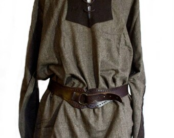 Light weight Tunic Brown, Grey- LARP, Cosplay, Costume