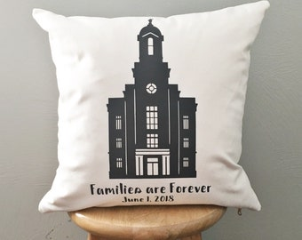 Families are Forever Temple pillow cover