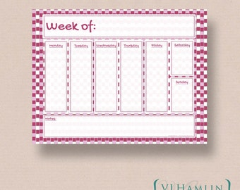 Printable Weekly Planner - Printable Planner - To Do List - Weekly Calendar - Printable Organizer - Instant Download | Funky Gingham