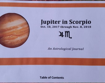 Jupiter Journal, Scorpio, Astrology,  journal, Zeus, zodiac, Jupiter, Underworld, BASIC VERSION, instant download