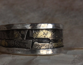 Samurai ring- man's engagement ring - man's wedding ring