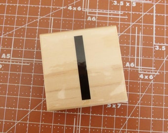 Lowercase L Rubber Stamp
