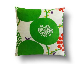 Mia & Stitch Green Floral Dots Cushion Covers, Throw Pillows