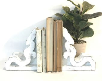 MINI Corbel Bookends SET - Corbel Bookends - White Corbels - Shabby Chic Corbels - Farmhouse Corbels - White Corbel - Corbels - Corbel